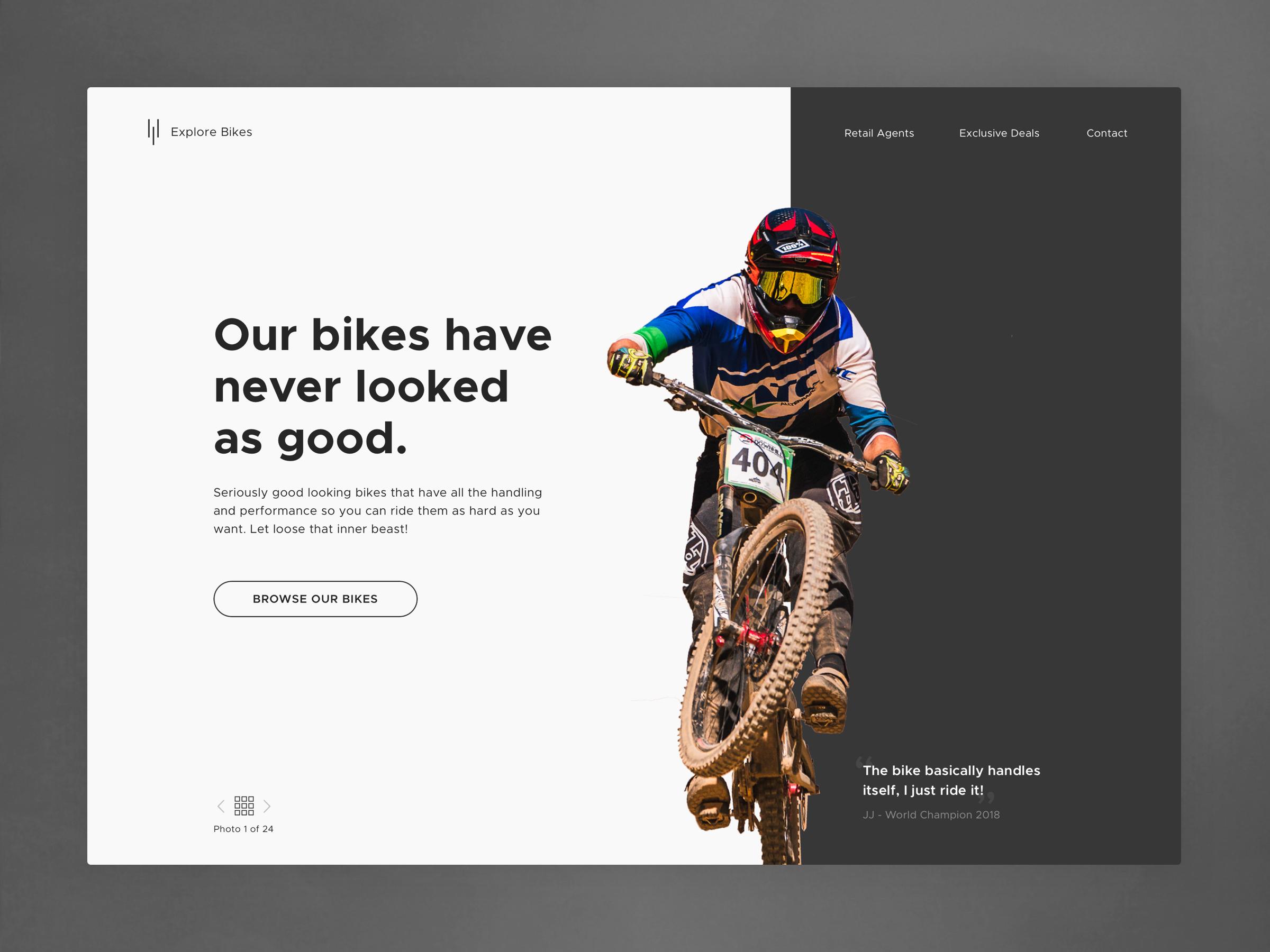 Biker bikes 3x
