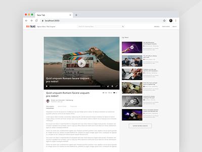 RFA Talks Video Screen minimal simple design clean ui ux chrome web video app talks video