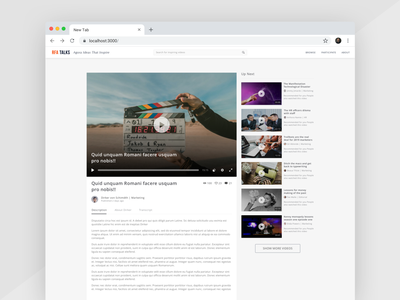 RFA Talks Video Screen minimal simple design clean ui ux chrome web video app talks video
