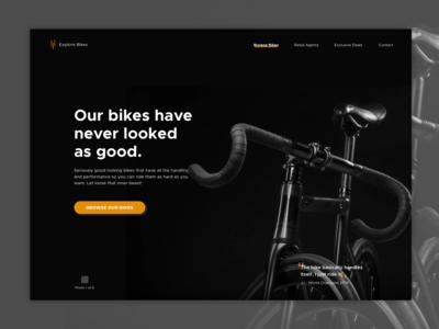 Road Bikes Landing Page