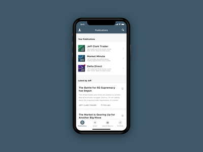 App Publications ui design simple clean minimal iphone x ios mobile iphone app app design ux ui updates articles