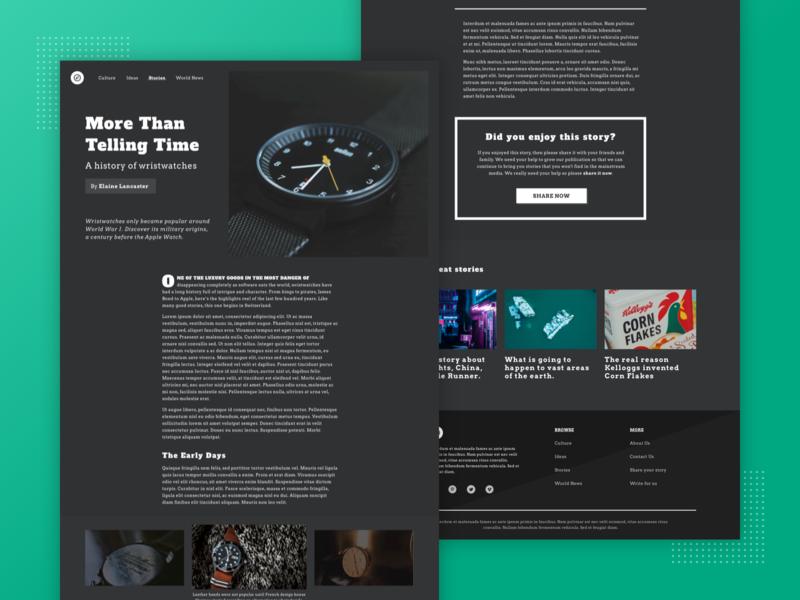 Dark Mode Editorial Design
