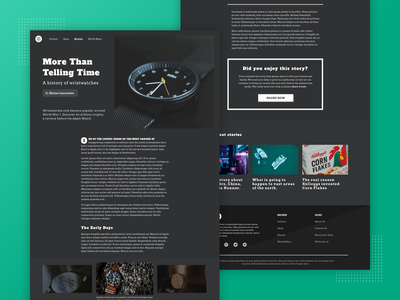Dark Mode Editorial Design storytelling simple pull quote editorial clean web design ui ux article design brutalism article typography design a drop cap