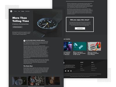 Dark Mode Editorial Design storytelling simple pull quote editorial clean web design ui ux article design brutalism article typography design a drop cap