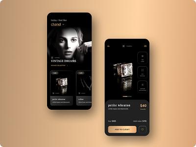 The Velvet Box - Vintage Jewellery App ui