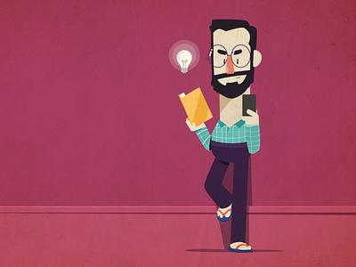 Geek animation design artwork flat motion characters illustration motion graphics