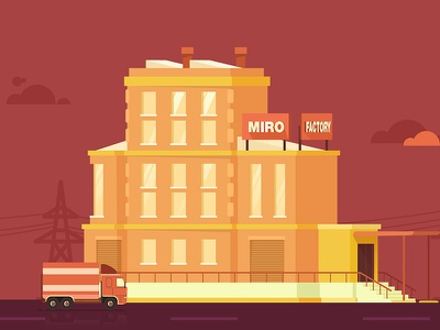 Miro Factory direction buillding design artwork flat motion illustration
