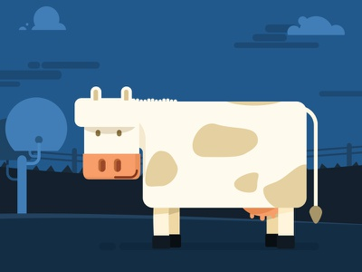 Dairy Cow characters direction design artwork flat motion illustration
