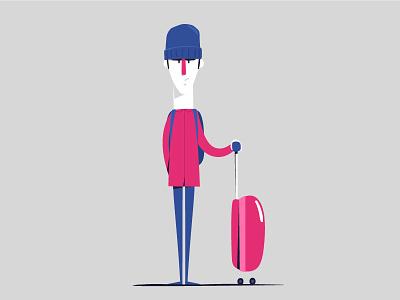 Traveling motion illustration graphics flat direction design character cartooning artwork