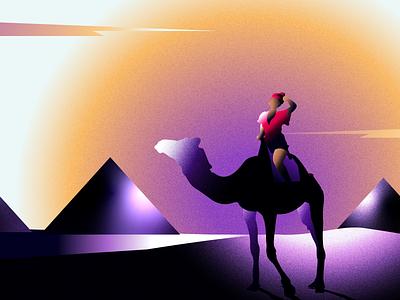 DESERT EXPRESS artwork africa egypt typogaphy simple logo grain noise adobe photoshop simple ux art character colors adobe illustrator 2d vector illustrator art illustration flat design