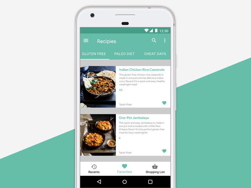 fitfoods for Android by Gregory Zuckerman on Dribbble
