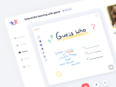 Online Learning - Dashboard teachers tools whiteboard education uiux sundaycrew dashboard ui ux english school language app learning platform learning english learning course chat online lessons language englishlanguage dashboard english