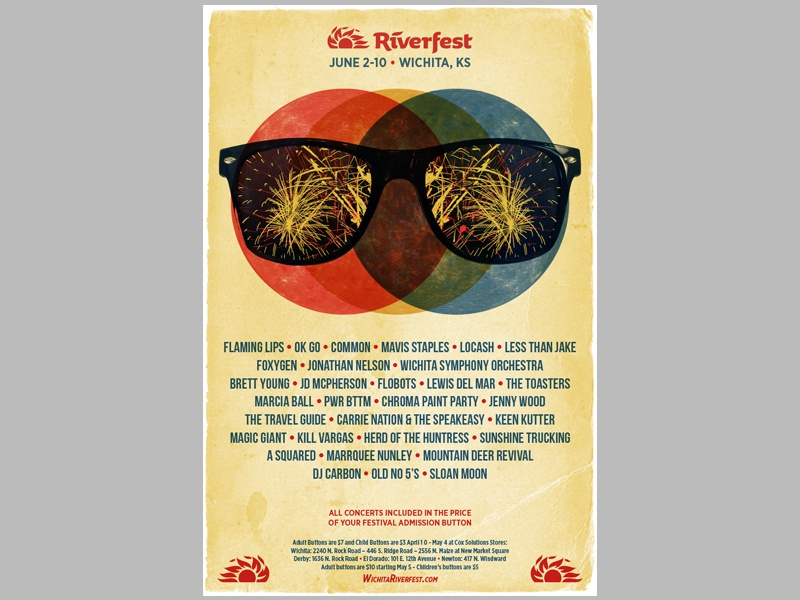Wichita Riverfest Gigposter by Troy R  Wells on Dribbble