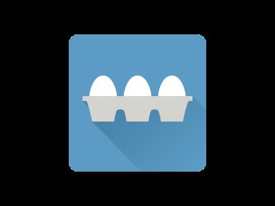Eggs Carton App Icon - White