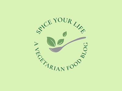 Logo Design for a Food Blog earthy warm colors warm green vegetarian beginners beginner logos branding design brand design brand identity logodesign logo design logo branding illustration design