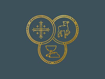 Anglicanism Icon book cover design book cover illustration bible line art icon design denomination christian jesus communion gold cross lamb design anglicanism anglican icon