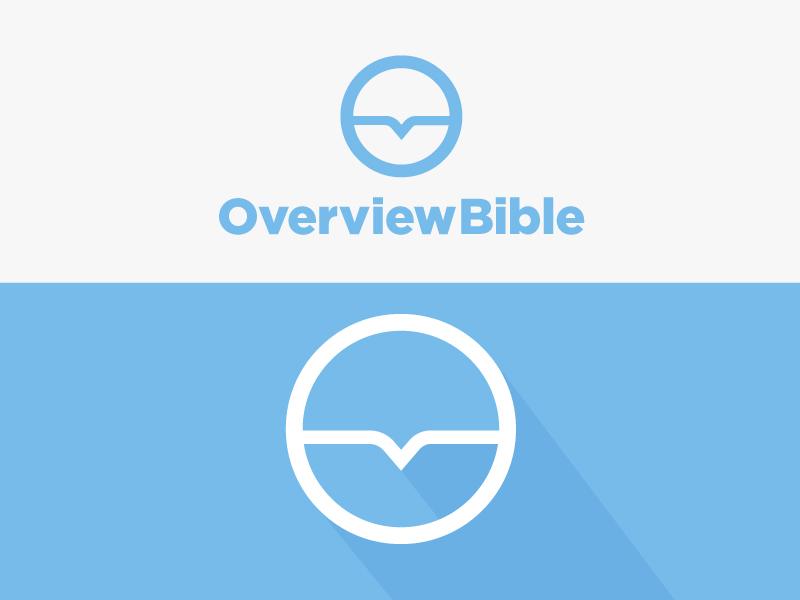 Logo Design for Overview Bible speech bubble jesus christian circle branding bible logo over view
