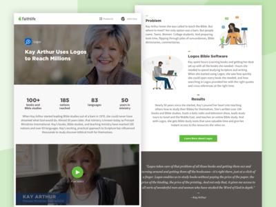 Faithlife Case Study Web Site