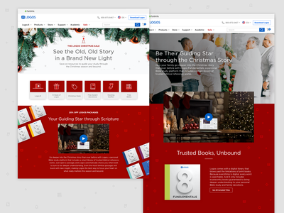2019 Logos Christmas Website christ icon uiux ux design logos bible software bible logos website concept web design website christmas