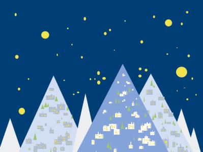 Polar night minimal vector illustration design