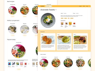 #Daily UI 040 - Recipe interface daily 100 challenge food recipe web daily ui dailyui ui