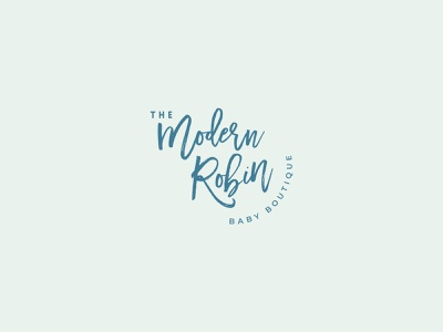 Logo the Modern Robin identité branding logo