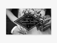 Wedding photographer, business card template