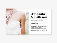 Wedding Photographer Business Card Template
