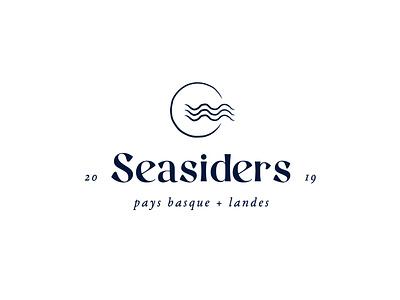 Seasiders Logo logo landes pays basque hossegor biarritz sea lovers identity design identity branding