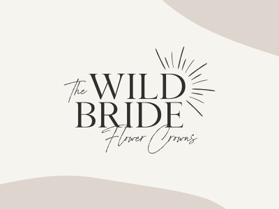 The Wild Bride - Premade Logo logo template template vector design branding logo design signature logo handwritten logo best branding trendy branding trendy logo bohemian logo boho branding boho logo logo to download custom logo premade logo logo
