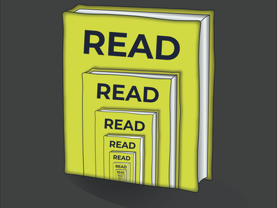 Read Books web minimal vector illustrator illustration graphic design design art