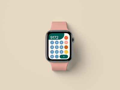 Daily UI 004 - Calculator retro ui design ios apple watch design ux ui daily ui
