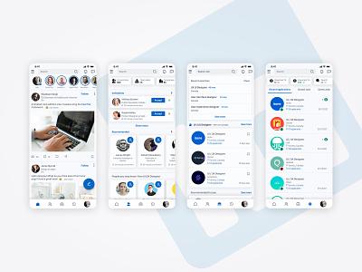 Linkedin App Redesign social media social redesign ux design uxdesign ux  ui uxui ui  ux ui design app app design application mobile app uidesign uiux linkedin figma design ux ui