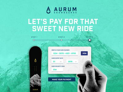 002 Daily UI - Credit Card Checkout web design ux design ui design ui snowboarding snowboard checkout payment mountain daily ui aurum