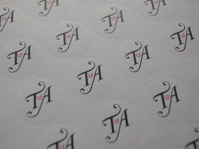 Envelope Seals wedding stationary logo illustrator envelope seals