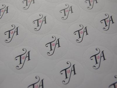 Envelope Seals wedding stationary logo illustrator envelope seals