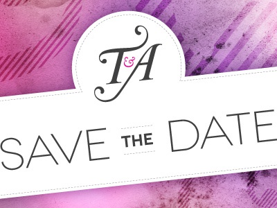 Save The Date wedding stationary logo illustrator save the date