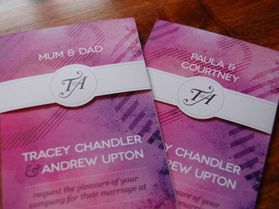 Invitation wedding invitation wrap around illustrator hand made