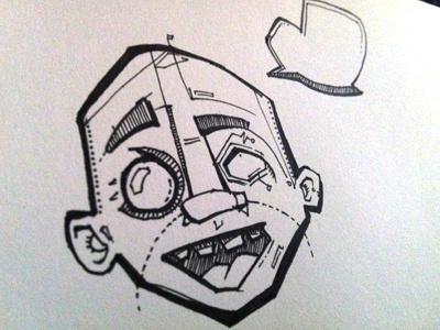 Sketch illustration pen paper hand drawn