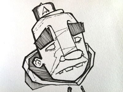 Character Sketch illustration pen paper hand drawn