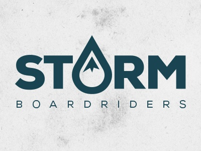 Storm Boardriders Logo storm surf skate snow logo branding boardriders