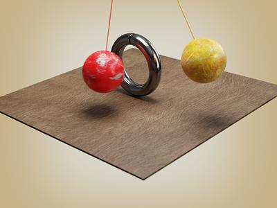 pendulam simulation blender3d