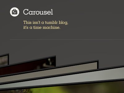 It's not called The Wheel, it's called The Carousel interaction fancy-pants css3 don-draper tumblr theme
