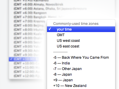 Dear everyone: better time zones
