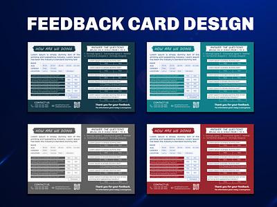 FEED BACK CARD DESIGN t-shirt feedback card banner feedback card feed back card design graphic design logo flyer design branding banner