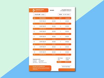 Invoice Documents business card order form receipt letterhead billing invoice design branding logo flyer t-shirt graphic design design banner