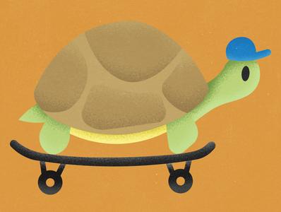 Turtle on a Skate design drawing photoshop vector illustration cool skate turtle