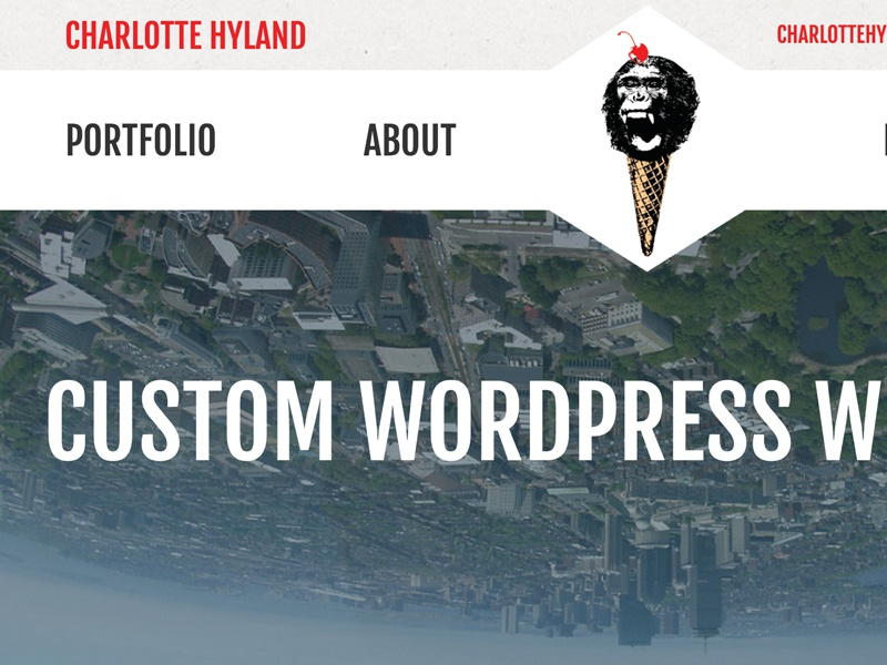 New Portfolio Site portfolio site wordpress web design monkey ice cream boston