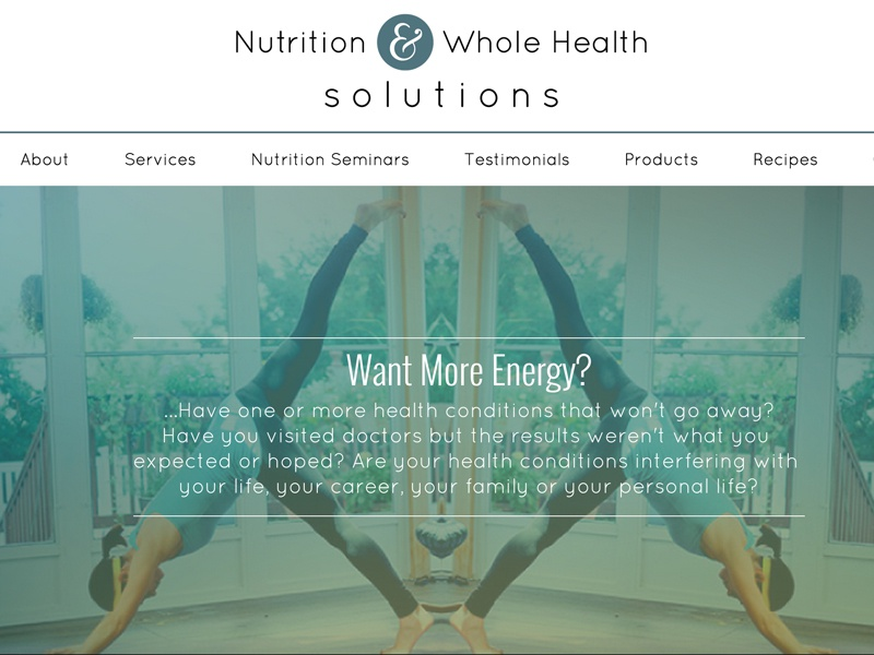 Nutrition & Whole Health Solutions nutrition health wellness wordpress