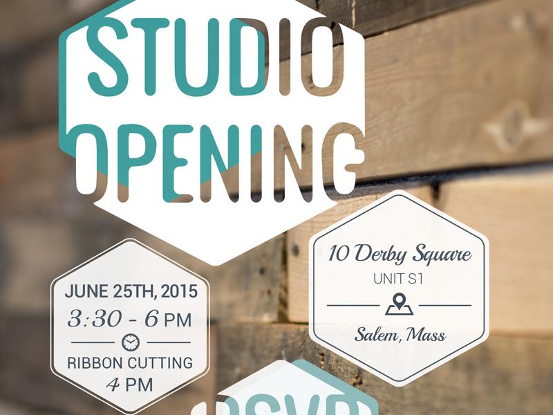 Studio Opening Invitation party time salem rsvp invite invitation
